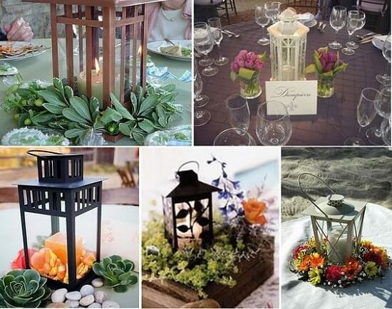 Sử dụng đèn bão trang trí cho các địa điểm tổ chức tiệc cưới tại HCM