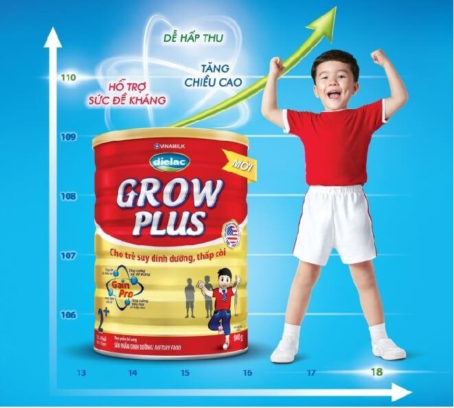 Sữa dielac grow plus 1+ dành cho các bé từ 1 tuổi trở lên