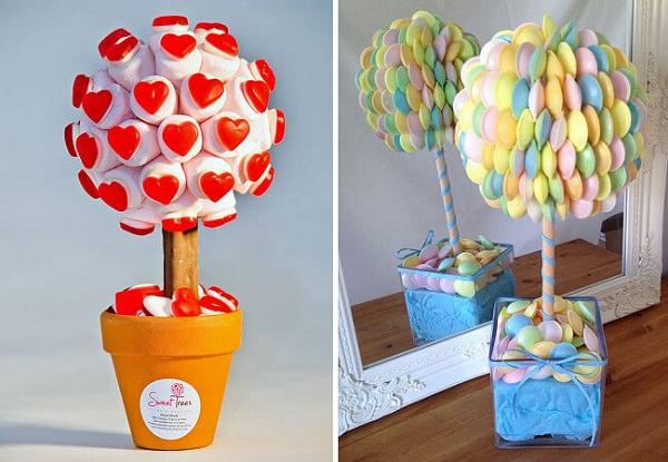Hoa cưới từ kẹo ngọt