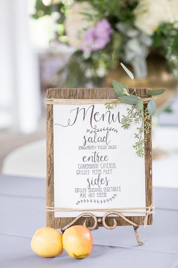 Mẫu thực đơn cho từng bàn tiệc tại nhà hàng tiệc cưới
