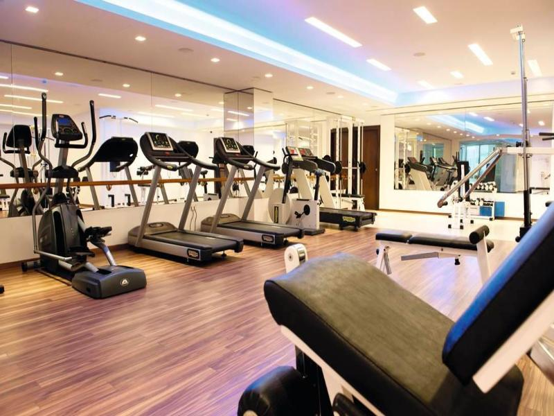 Gym rooms in the Singapore hotel in district 1